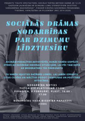 Sociālās drāmas teātra nodarbība par dzimumu līdztiesību