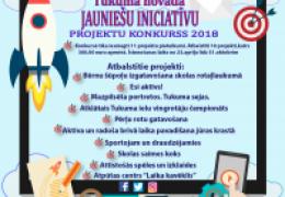 Tukuma novada jauniešu iniciatīvu projekta konkursa rezultāti