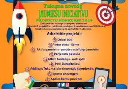 Tukuma novada jauniešu iniciatīvu projekta konkursa 2019 rezultāti